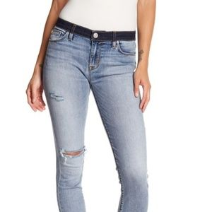 Hudson Nico Mid Rise Cropped Super Skinny Jeans